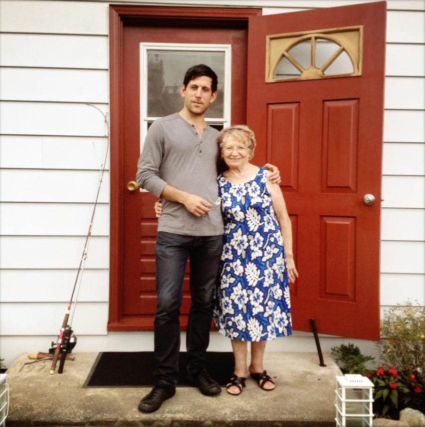 Kazia with Director Jonathan Durand, at her cottage in the Eastern Townships in 2012.